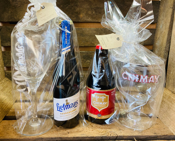 Beer and glass gift set