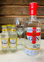 Gift Set : Lincoln Gin and Branded Glass