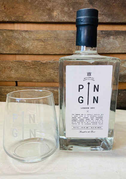 Pin Gin with glass set