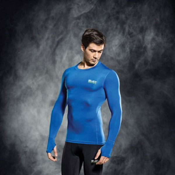 Select Compression Jersey L/S Royal Blue