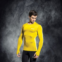 Load image into Gallery viewer, Select Compression Jersey L/S Yellow