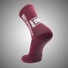 Load image into Gallery viewer, Tapedesign Classic Grip Socks Bordeaux Red