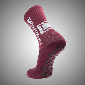 Tapedesign Classic Grip Socks Bordeaux Red