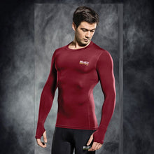 Load image into Gallery viewer, Select Compression Jersey L/S Maroon