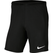 Load image into Gallery viewer, Nike Youth Park Knit Shorts Black/White