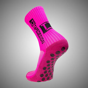 Tapedesign Classic Grip Socks Neon Pink