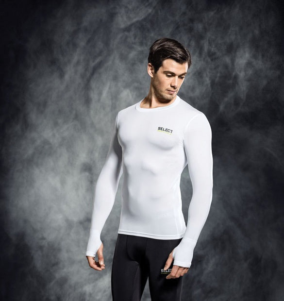Select Compression Jersey L/S White