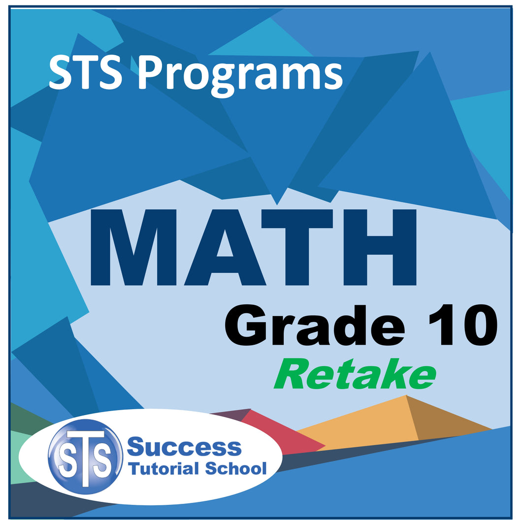 Grade 10 Math - Retake Course