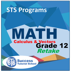 Grade 12 Calculus and Vectors - Retake Course