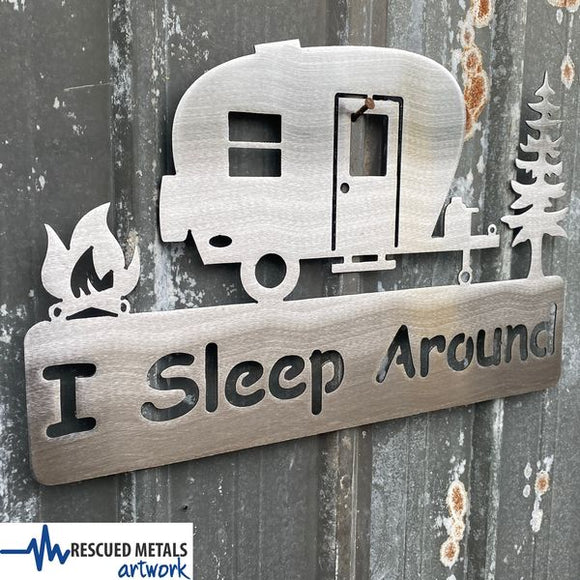Camping Outdoors Metal Wall Art Signs and Gifts