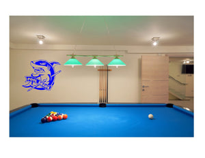 Custom Billiards pool gameroom mancave metal wall art & artwork