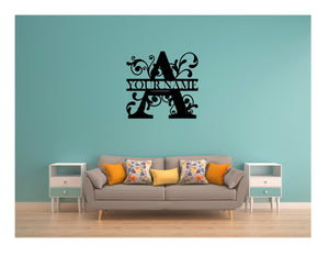 Custom Family Metal Wall Art Monogram Artwork