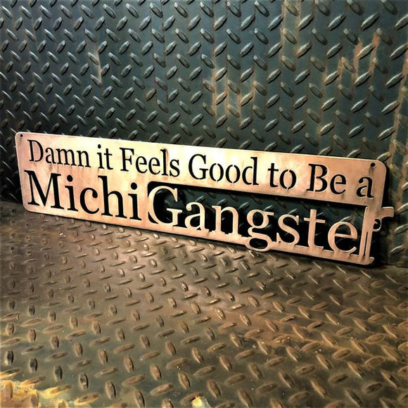 Michigangster Michigan Metal Wall Art