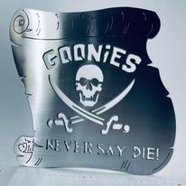 Goonies Sign - Map - Classic Art - Treasure Pirates - Home Decor - Mancave -