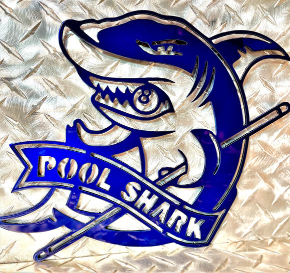 Pool Shark Billiards Metal Wall Art