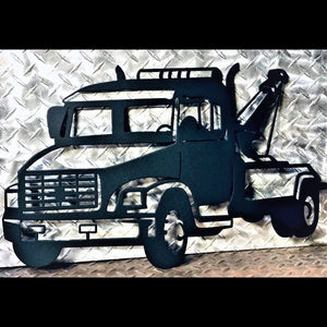 Tow Truck - Metal Sign - Home Decor - Garage - Office