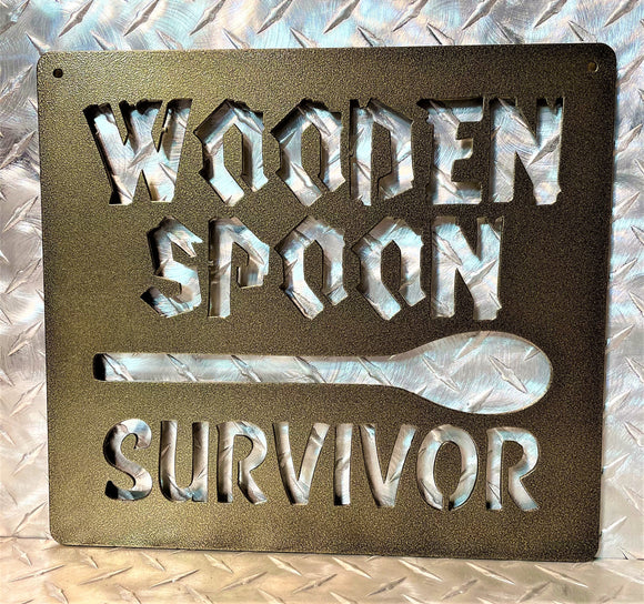 Wooden Spoon Survivor - Kitchen Decor - Back In The Day Inspired Signs - Kitchen Art - Kitchen Signs and Gifts