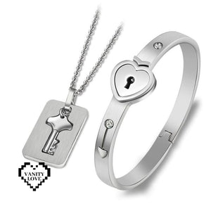Vanity Love Lock Set - Sterling Silver