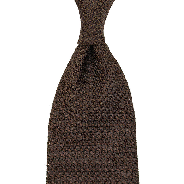 Grenadine / Garza Grossa Tie - (Chocolate)