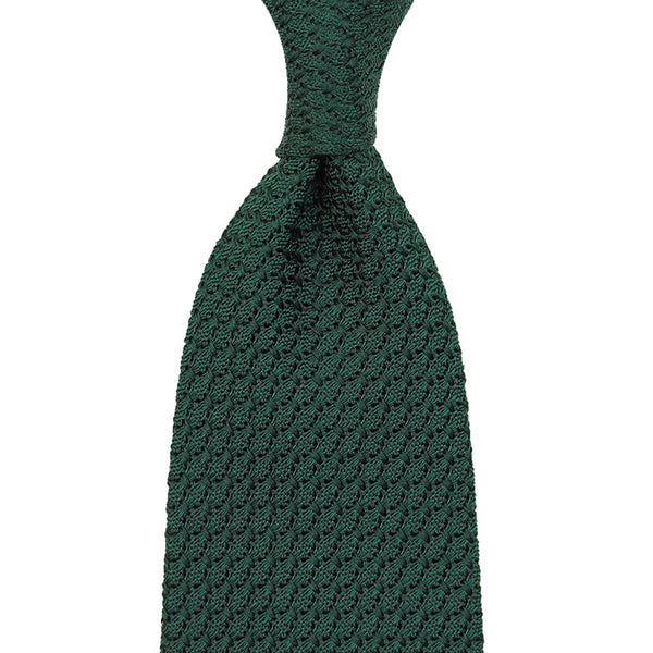 Grenadine / Garza Grossa Tie - (Forest Green)