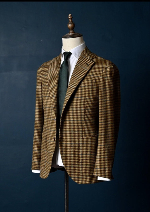 Sample Jacket - Dormeiul Wool/Cashmere (Brown/Sand/Blue)