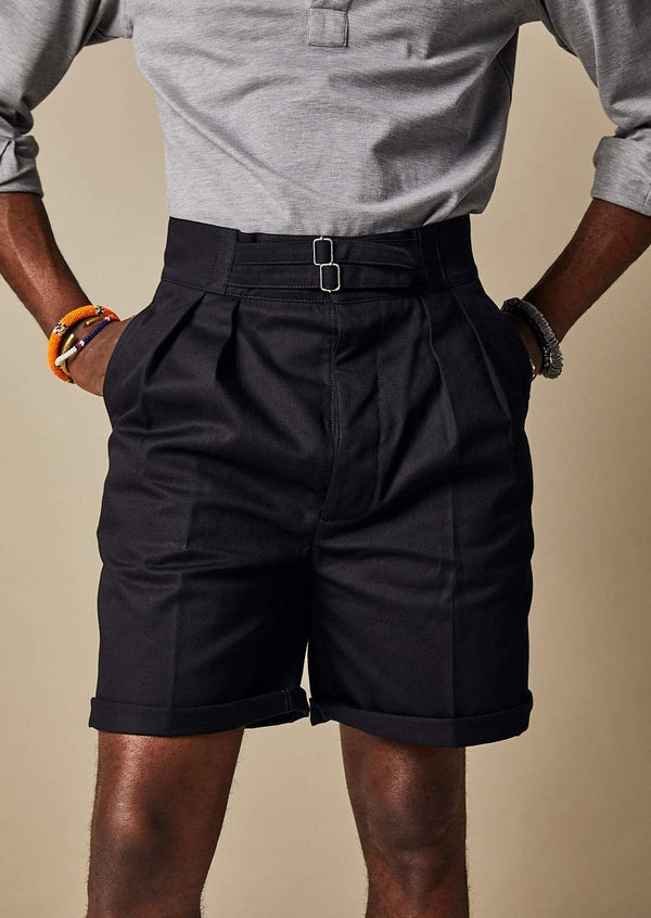 S011 Safari Shorts (Dark Navy)