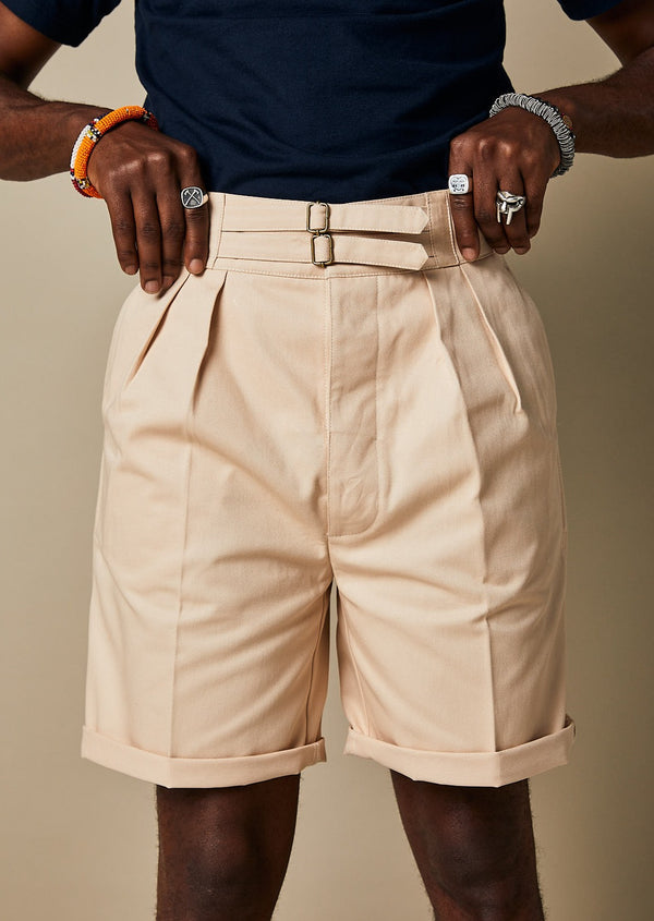 S011 Safari Shorts (Ecru)
