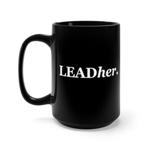 Leadher (Black Mug 15oz)