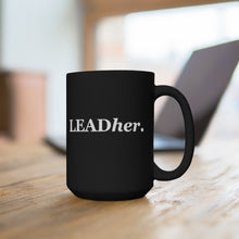 Load image into Gallery viewer, Leadher (Black Mug 15oz)