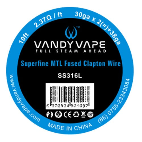 MTL Fused Clapton SS316L wire - VANDY VAPE