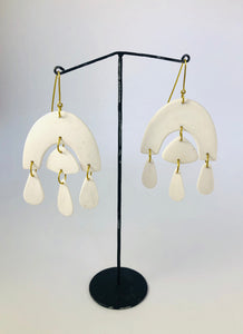 Porcelain Chandelier Earrings