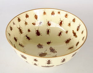 Cream Bowl with Gold Insects
