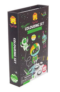Neon Colouring Set Space
