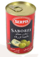 Olives stuffed with blue gene