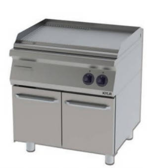 Half corrugated grill with cabinet