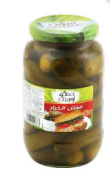 Pickled cucumber whole grain