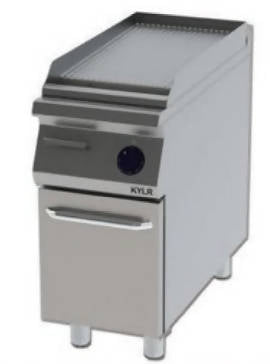Corrugated grill with cabinet