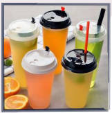 Plastic injection cup