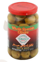 Green olives whole grain
