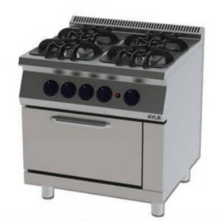 A cooker with an oven