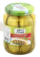 Pickled cucumber slices for sandwich