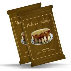 Chocolate make-up molds for cake coating with milk Badr