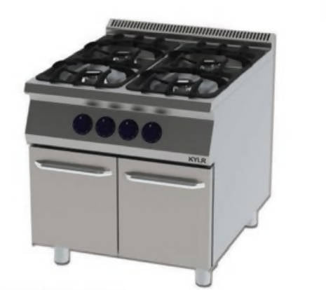 Stove with cupboard