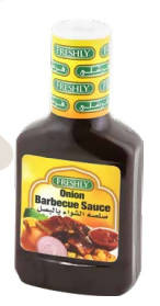 BBQ sauce with onions