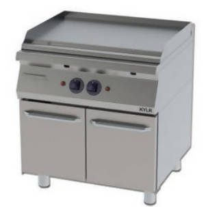 Flat grill with cabinet