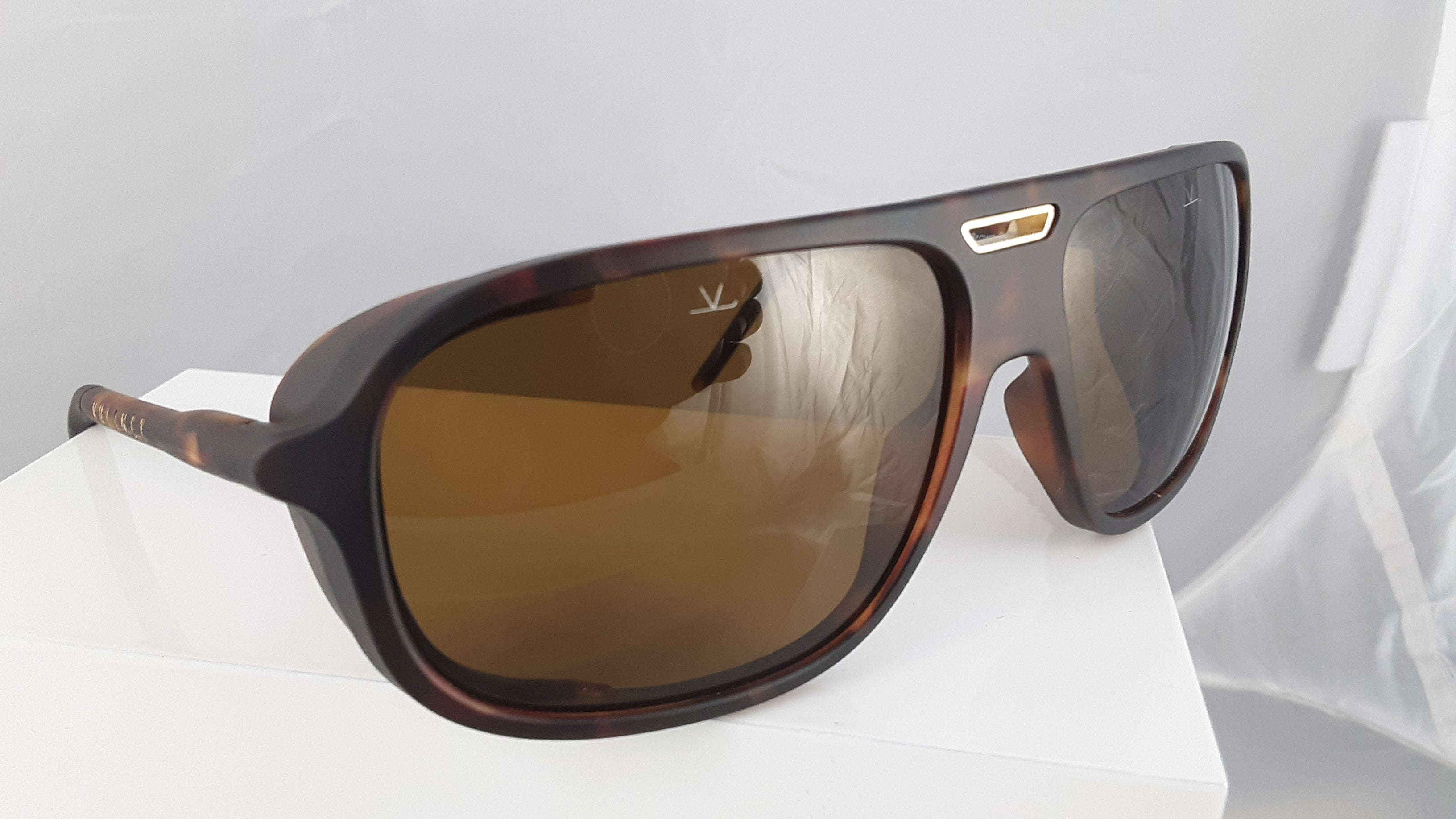 Vuarnet Polarized Brown Tortoise Sunglasses