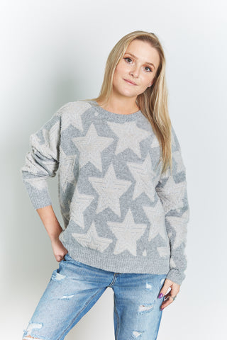 Women's Star Print Sweater