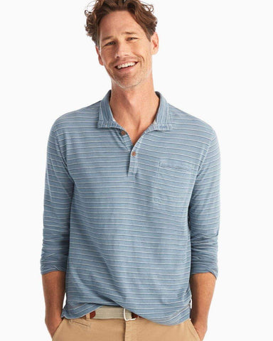 Johnnie-O Adrian Indigo Striped Henley