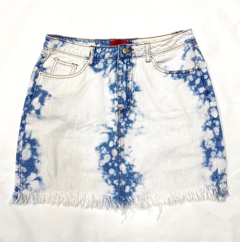 Women's Tie Dye Denim Skirt