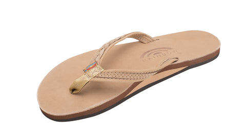 "Rainbow Women's Madison Sandal- Single Layer w/ Arch Support and 1/2"" Narrow Rolled Strap"